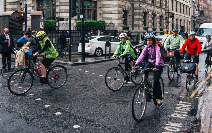 Правильная езда на велосипеде